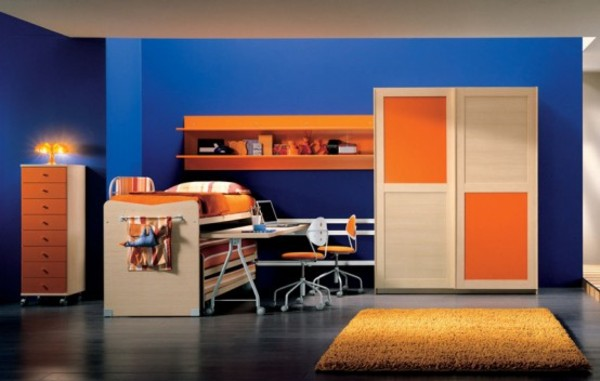 Colour nadinechicken for Blue and orange bedroom ideas